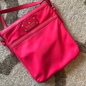 Kate Spade Hot Pink Vinyl Crossbody Purse